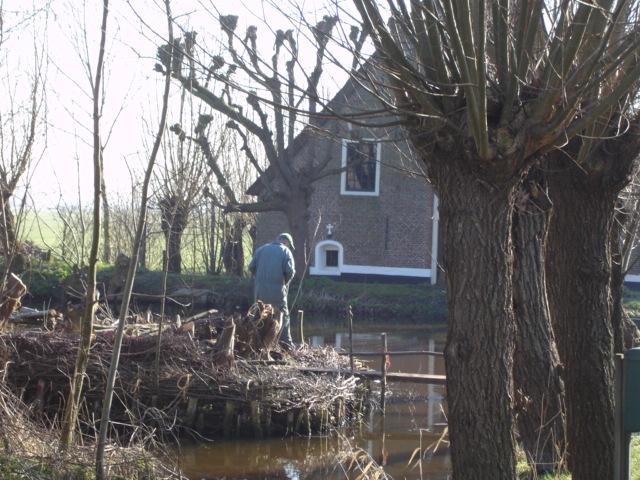 Boer in Weypoort, 'stad in het weiland'. Foto: Frank Flippo