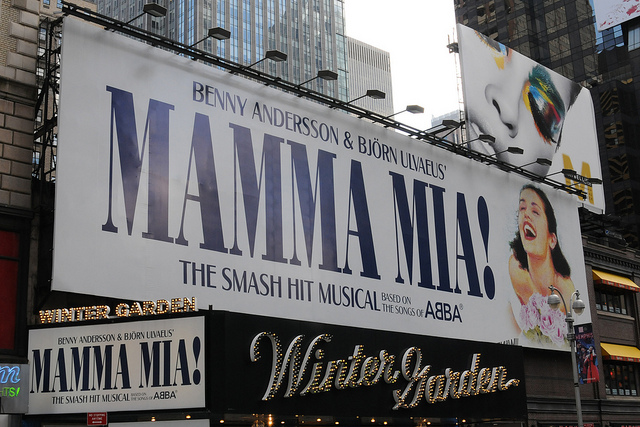 Mamma Mia op Broadway. Bron: Flickr, Broadway Tour
