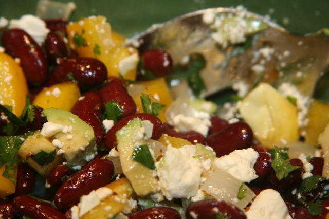 Salade van appel en peulvruchten. Bron: gudlyf, Flickt