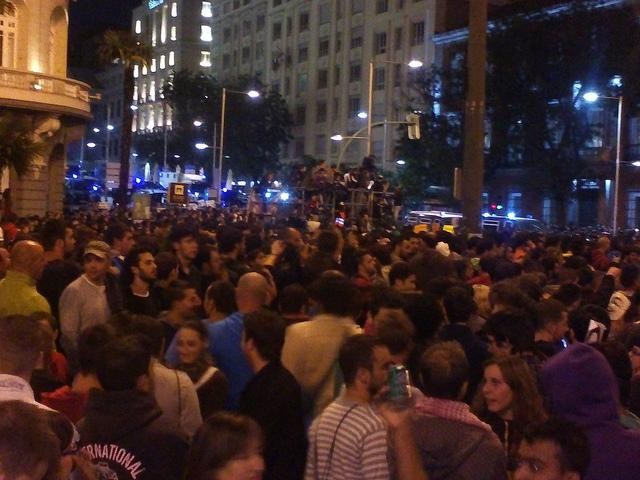 Madrileense menigte